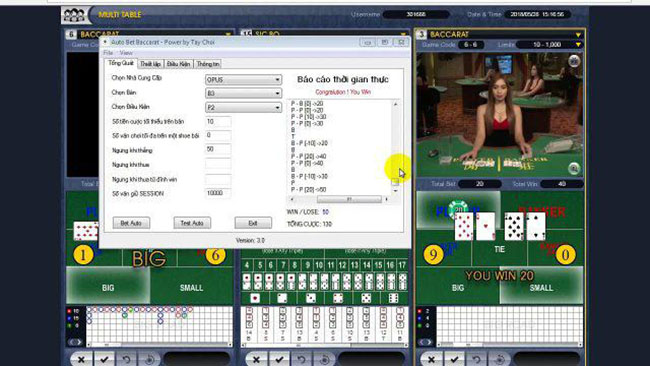 Win@Baccarat Gold with the Predictor System - phần mềm dự đoán Baccarat