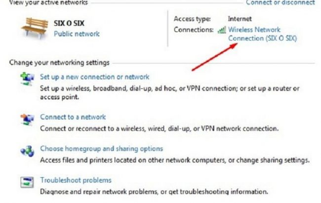 """Chọn """"Wireless Network Connection"""""""