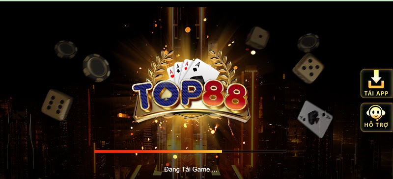 Giao diện tải cổng game Top88